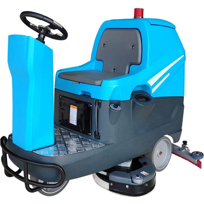 KTX86jia驶式洗地车 工厂车间shang场物业环氧停车场洗地机