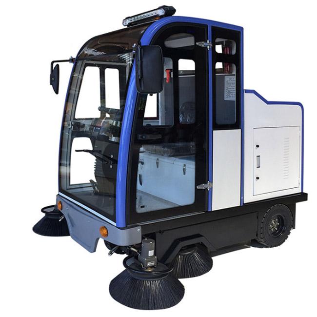 KTS221全封闭电动厂区道lu驾驶式扫地车